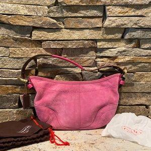 Vintage Suede coach bag w dust bag & cleaning kit